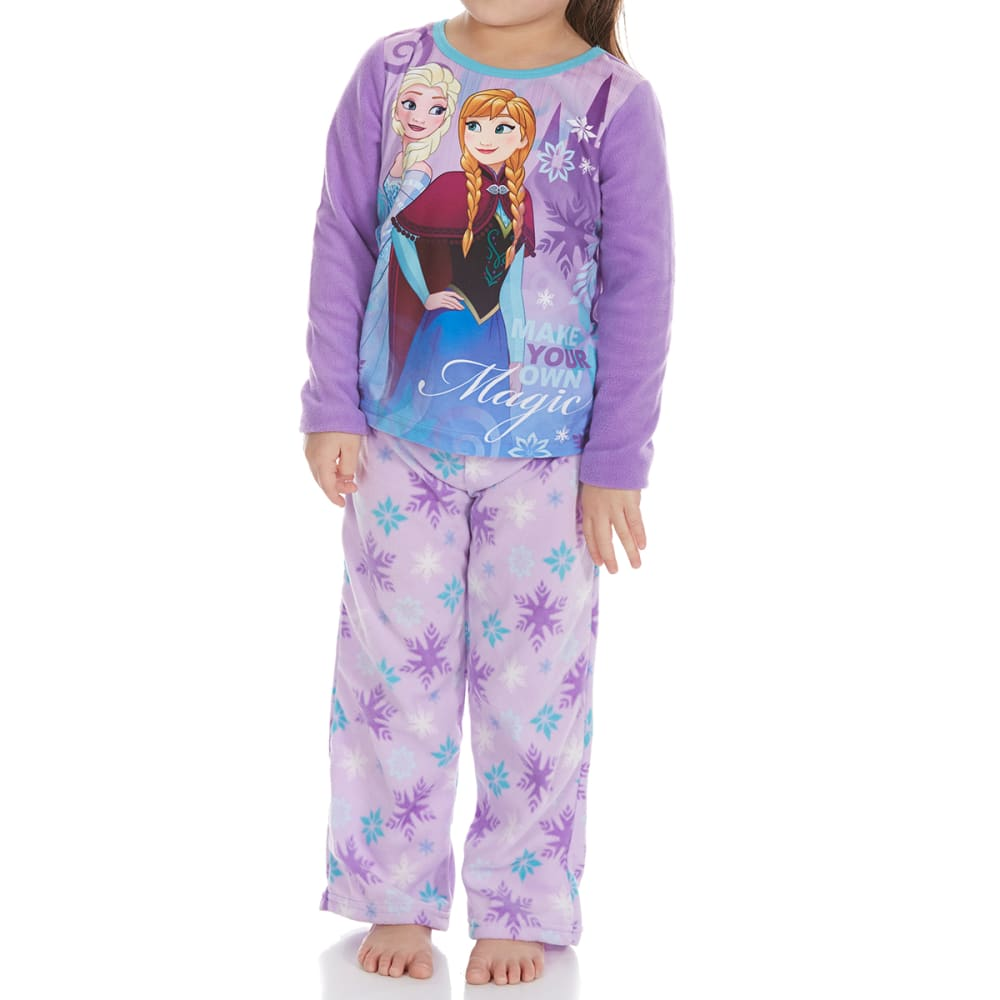 Ame Little Girls Two-Piece Frozen Fleece Sleep Set - Various Patterns, 4