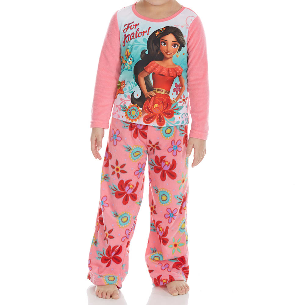 Ame Little Girls Two-Piece Elena Of Avalor Fleece Sleep Set - Various Patterns, 4