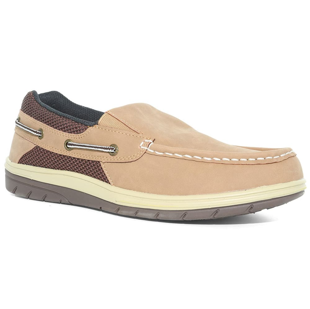 ISLAND SURF Men's Surf Sail Lite Slip-On Boat Shoes, Parchment - PARCHMENT