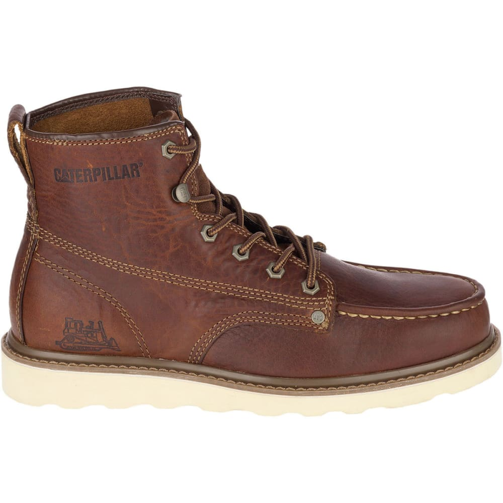 CATERPILLAR Men's 6 in. Glenrock Mid Work Boots, Peanut Brown - PEANUT BRN