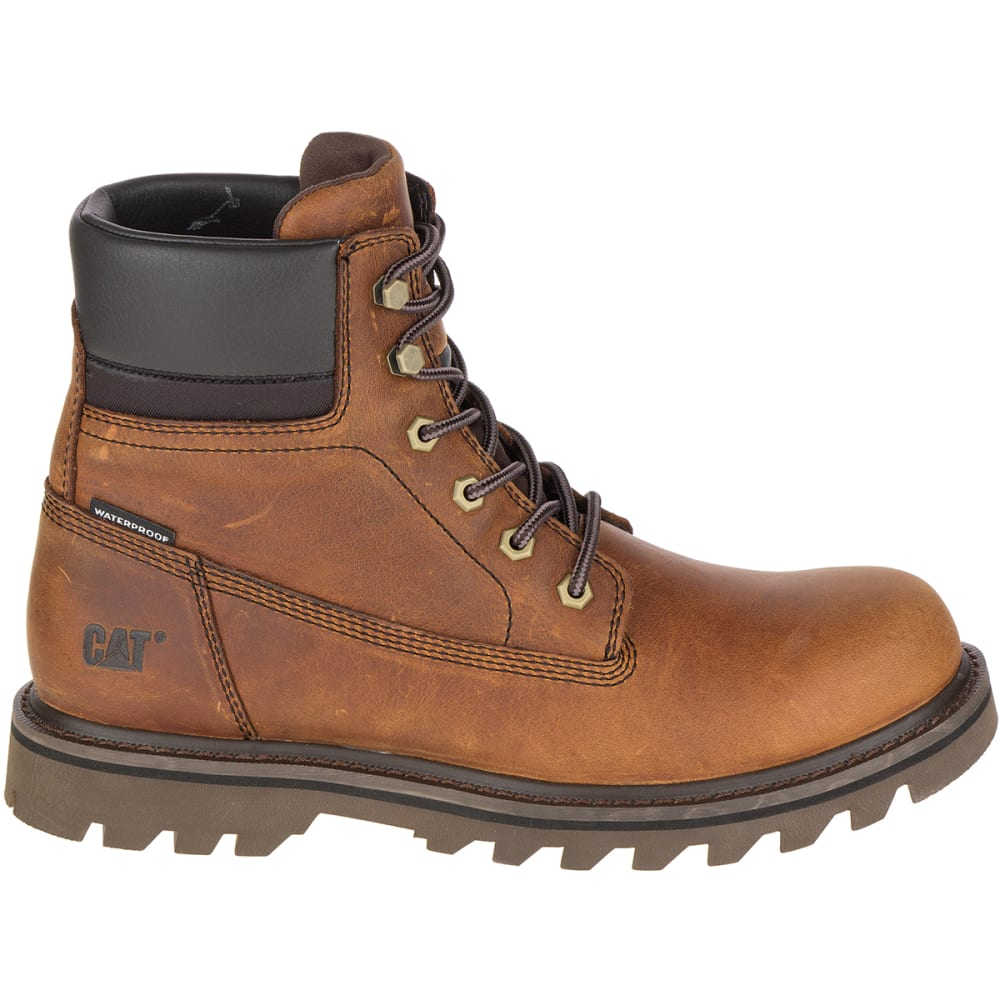 CATERPILLAR Men's 6 in. Deplete Waterproof Work Boots, Brown - BROWN