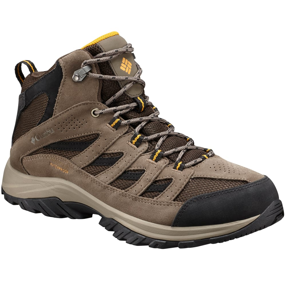 COLUMBIA Men's Crestwood Mid Waterproof Hiking Boots - CORDOVAN