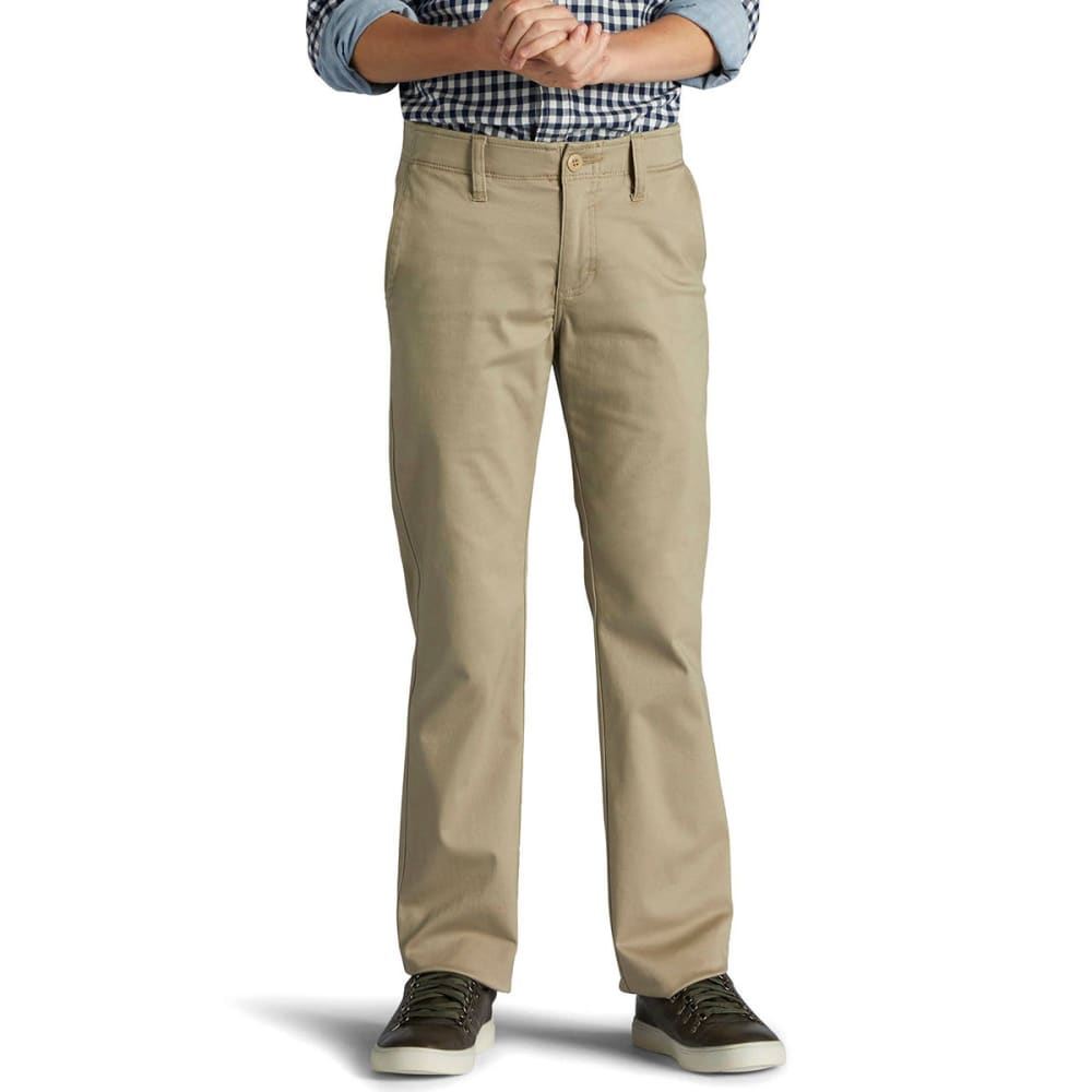 LEE Boys' Slim Fit Straight Leg Chino Pants - PEBBLE 2108