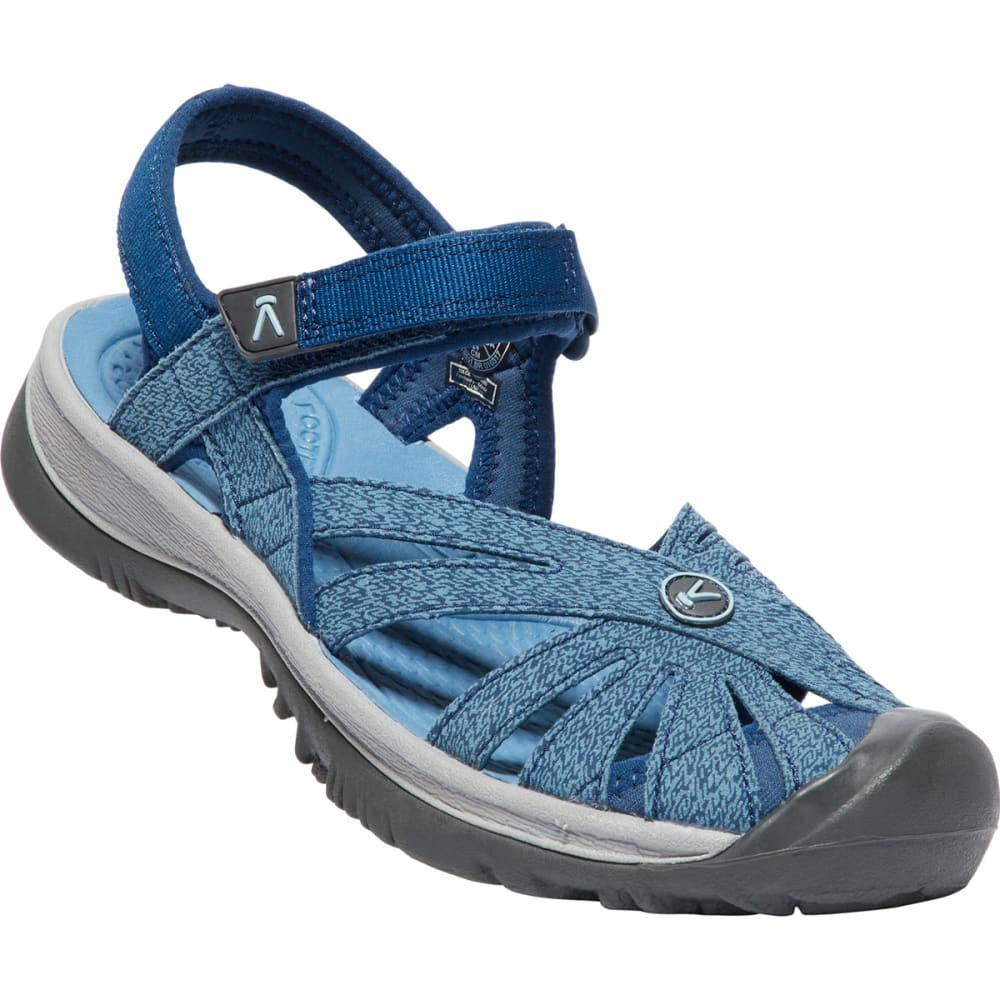 Keen Women's Rose Sandal - Blue, 6