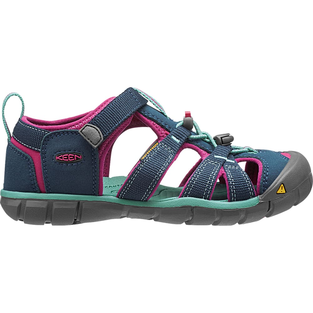 KEEN Big Kids' Seacamp II CNX Sandals - POSEIDON/VERY BERRY