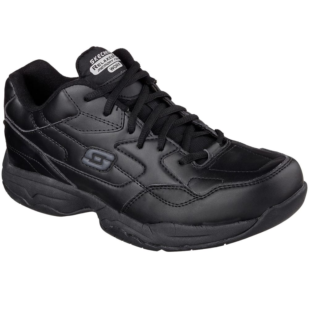 SKECHERS Men's Work Relaxed Fit: Felton -  Altair Work Shoes - BLACK
