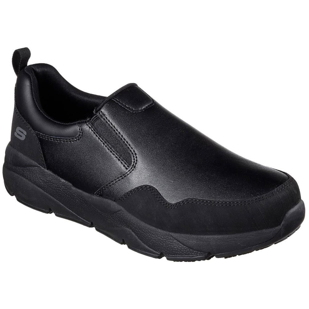 SKECHERS Men's Work: Resterly SR Slip-On Work Shoes - BLACK