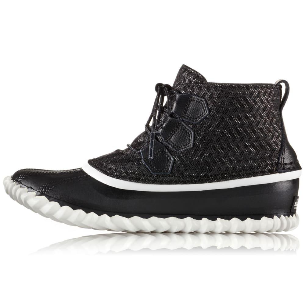 SOREL Women's Out N About Low Waterproof Rain Boots - BLACK