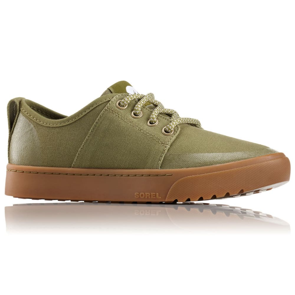 SOREL Women's Campsneak Lace-Up Casual Shoes - OLIVE DRAB