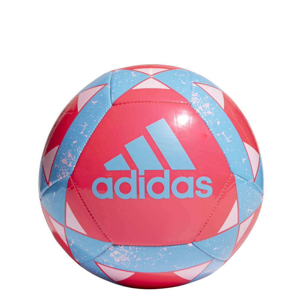 ADIDAS Starlancer V Soccer Ball - HOT PINK/CYAN/WHITE