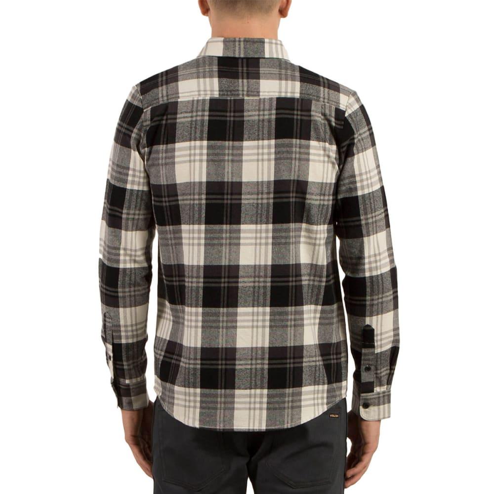 VOLCOM Guys' Caden Long Sleeve Flannel Shirt - EGG WHITE- EGW