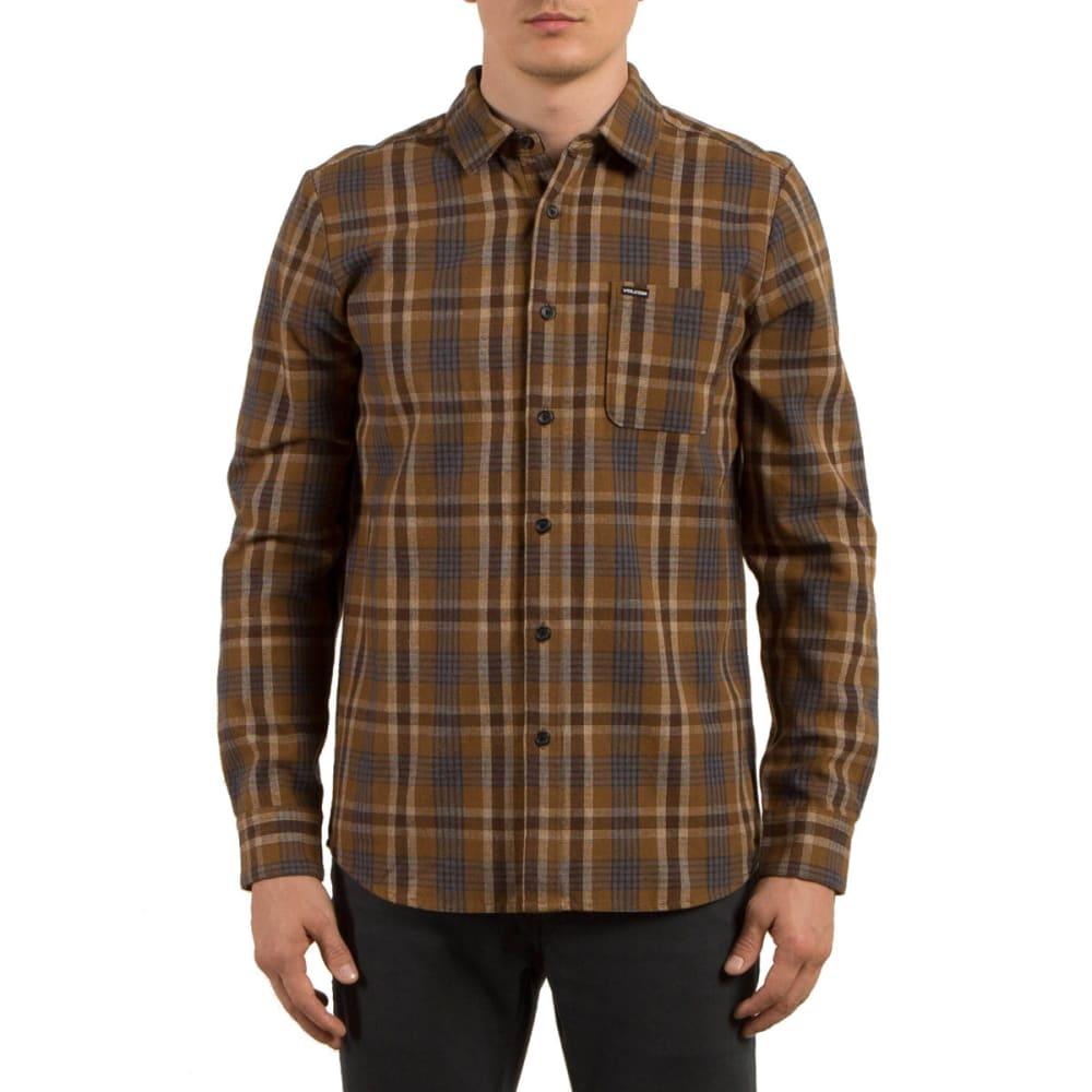 VOLCOM Men's MARCOS Long Sleeve Flannel Shirt - MUD-MUD