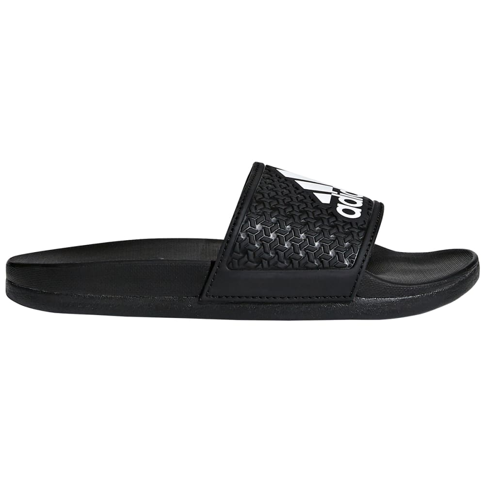 ADIDAS Boys' Adilette Cloudfoam Plus Slides - BLACK/WHITE