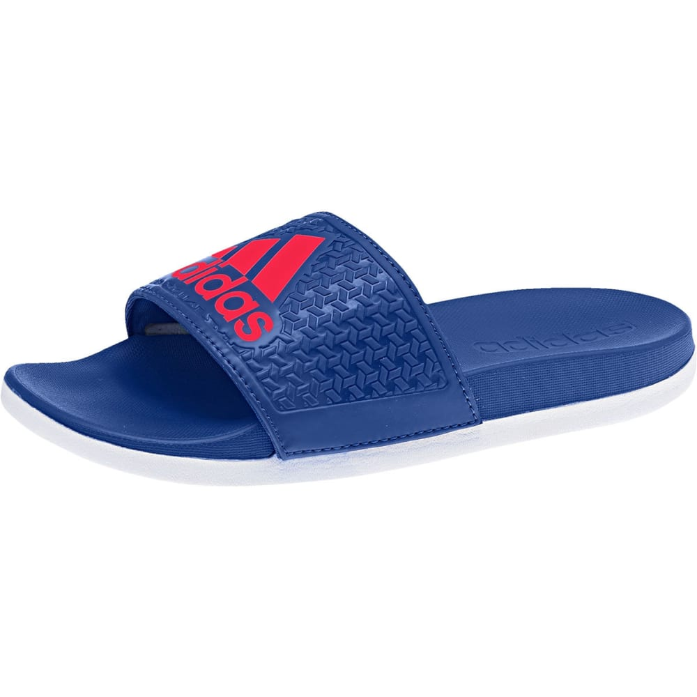 ADIDAS Boys' Adilette Cloudfoam Plus Slides - ROYAL/RED