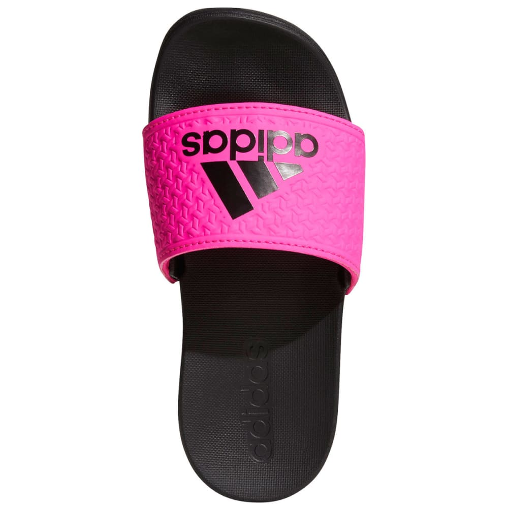 ADIDAS Girls' Adilette Cloudfoam Plus Slides - BLACK/PINK