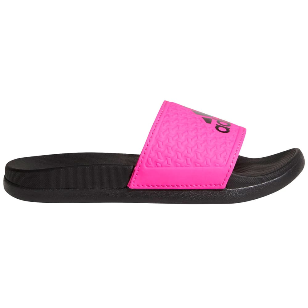Adidas Girls Adilette Cloudfoam Plus Slides - Black, 1