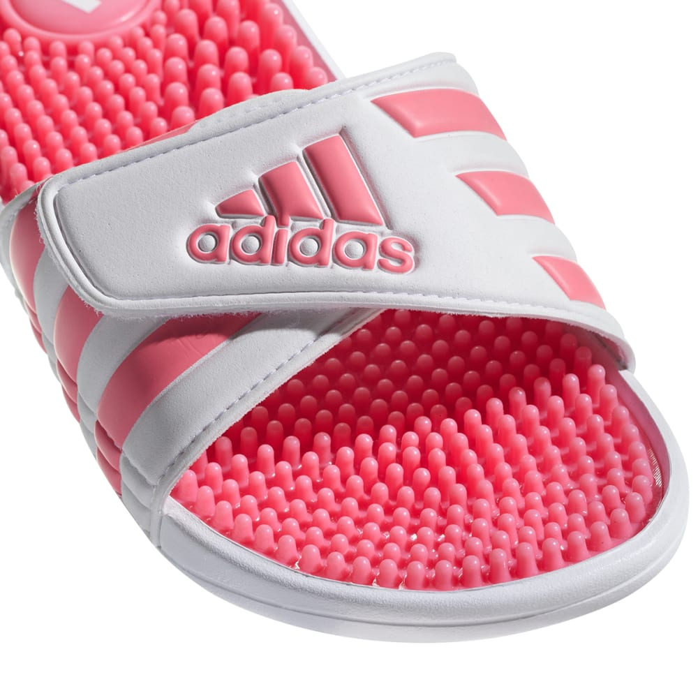 ADIDAS Girls' Adissage Slides - WHITE/PINK