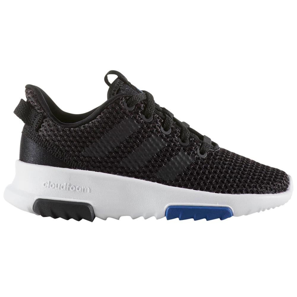 ADIDAS Big Boys' Neo Cloudfoam Racer TR Running Shoes, Black/White - BLACK/WHITE