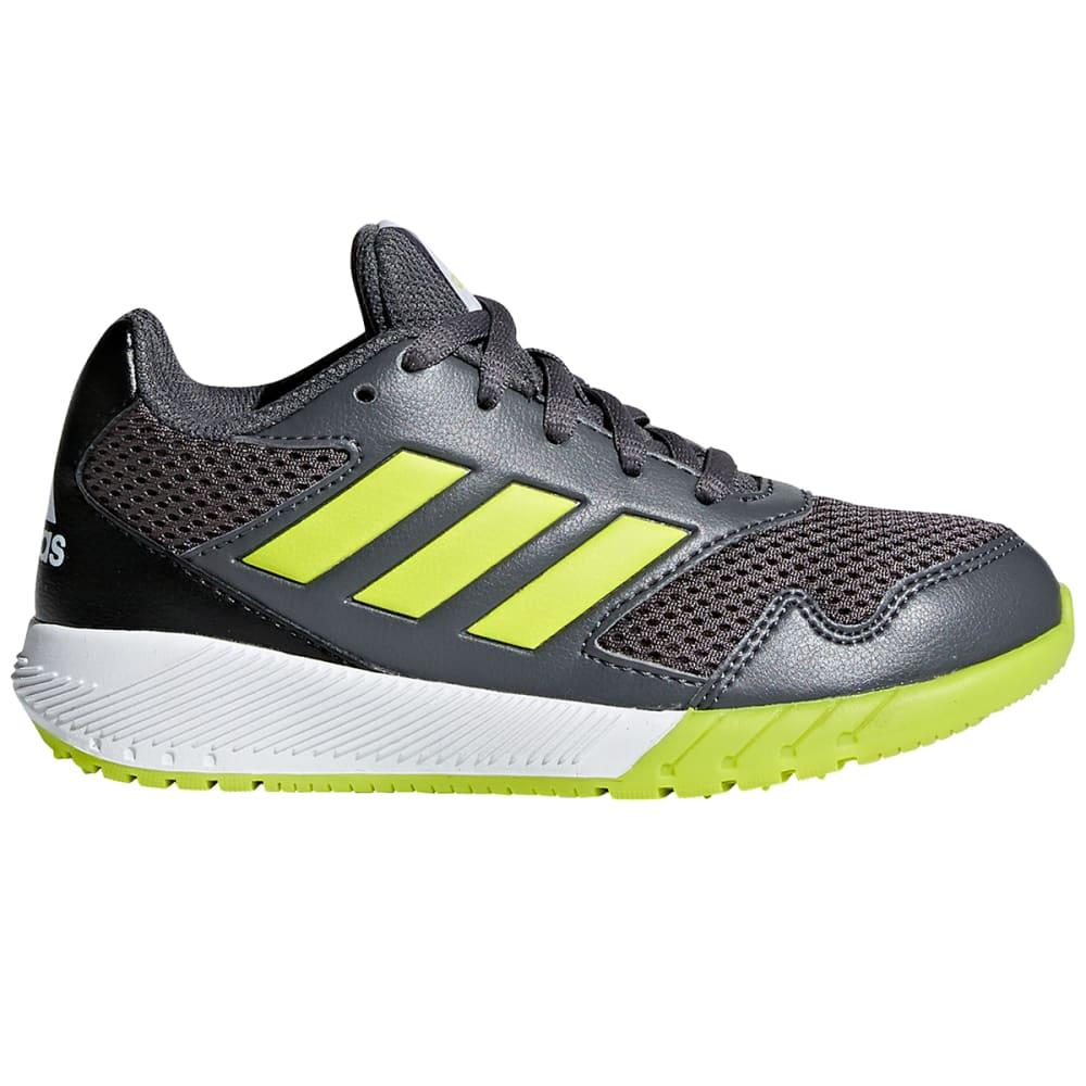 ADIDAS Boys' AltaRun K Running Shoes - GREY/YELLOW