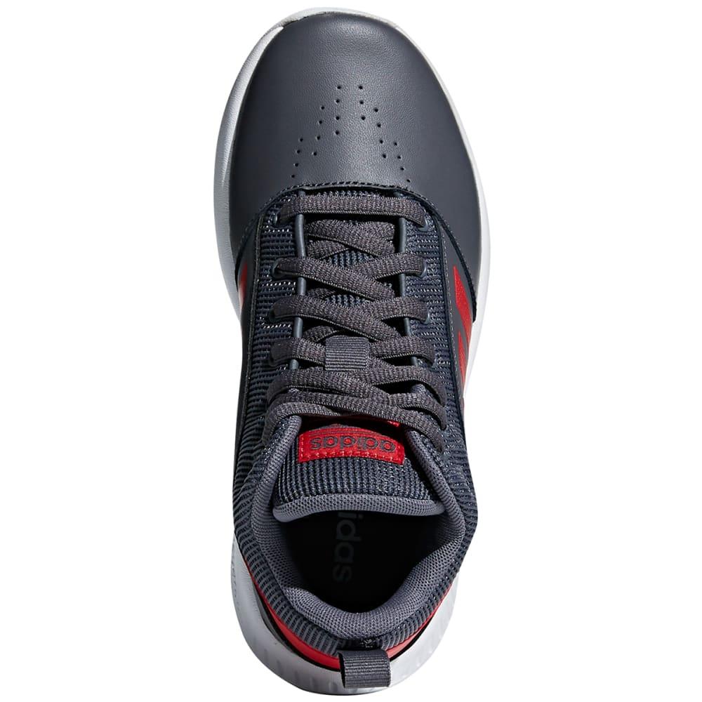 ADIDAS Boys' Cloudfoam Ilation 2.0 Mid Basketball Shoes - GREY/SCARLET