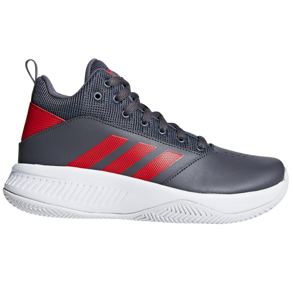 ADIDAS Boys' Cloudfoam Ilation 2.0 Mid Basketball Shoes - GREY/SCARLET