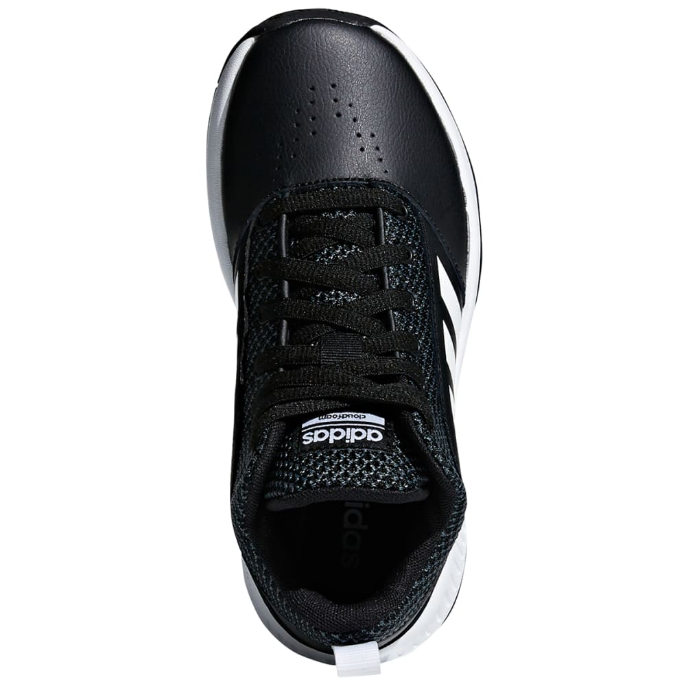 ADIDAS Boys' Cloudfoam Ilation 2.0 K Basketball Shoes - BLACK/WHITE