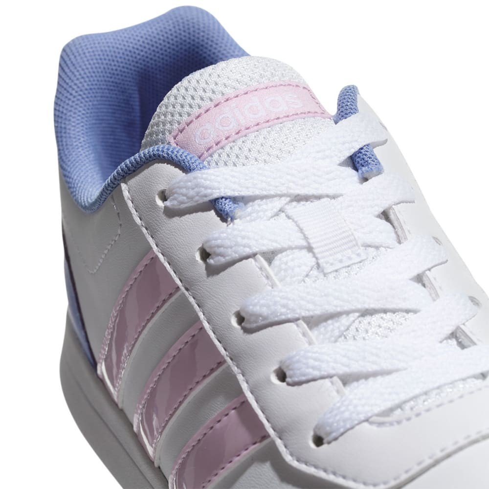 ADIDAS Girls' VS Switch 2 K Shoe - WHITE/PINK/PURPLE