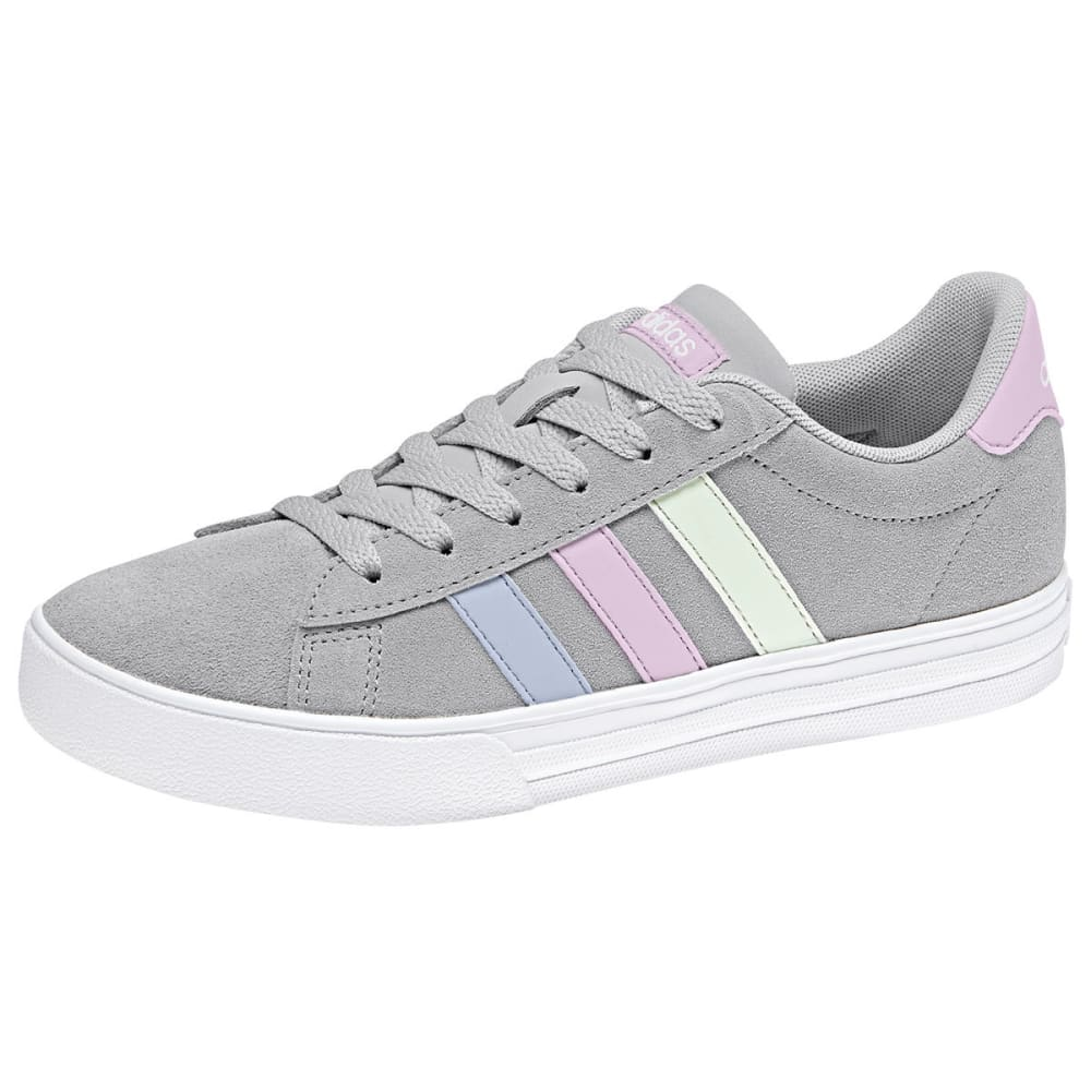 ADIDAS Girls' NEO Daily 2.0 Sneakers - GREY/PINK/BLUE