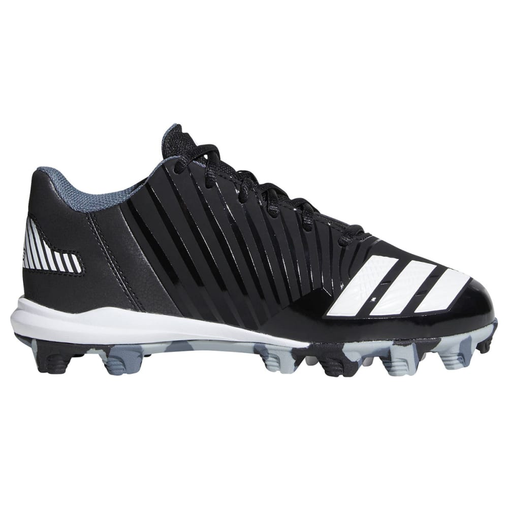 ADIDAS Boys' Icon Molded Baseball Cleats - BLACK/WHITE/ONYX