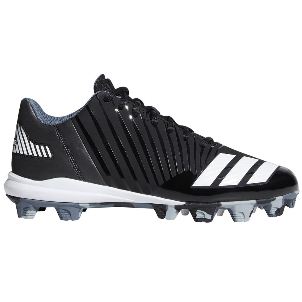 ADIDAS Men's Icon MD Baseball Cleats - BLACK/WHITE