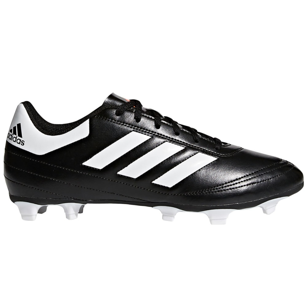 ADIDAS Men's Goletto 6 Firm Ground Soccer Cleats - BLACK/WHITE
