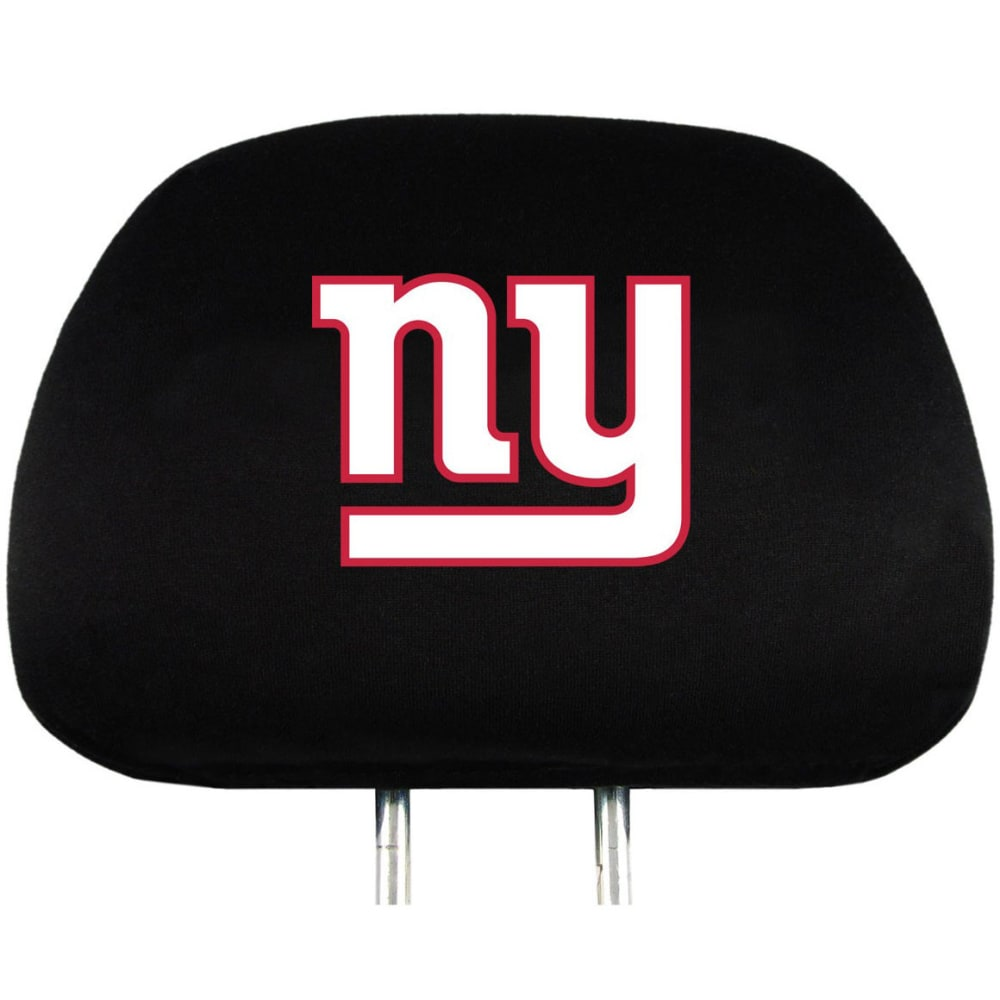 NEW YORK GIANTS Car Headrest Covers, 2 Pack - NO COLOR