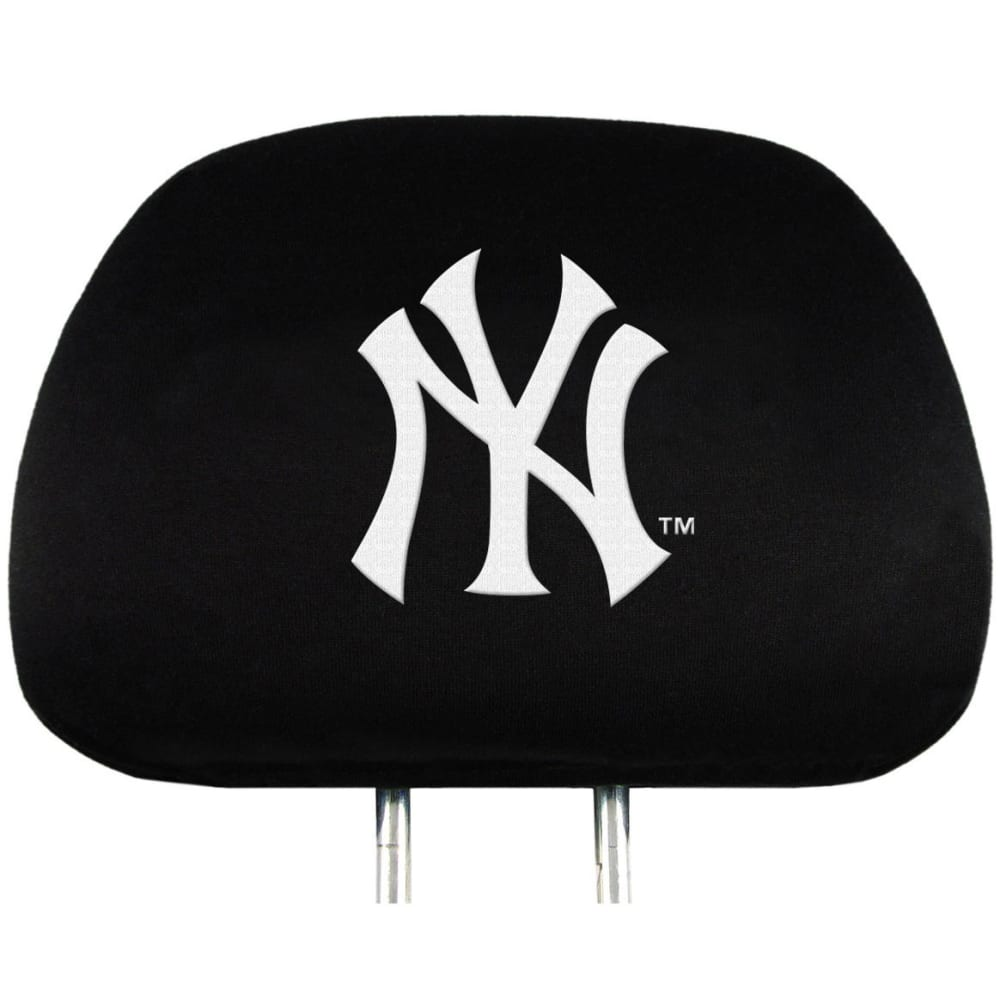 NEW YORK YANKEES Car Headrest Covers, 2 Pack - NO COLOR