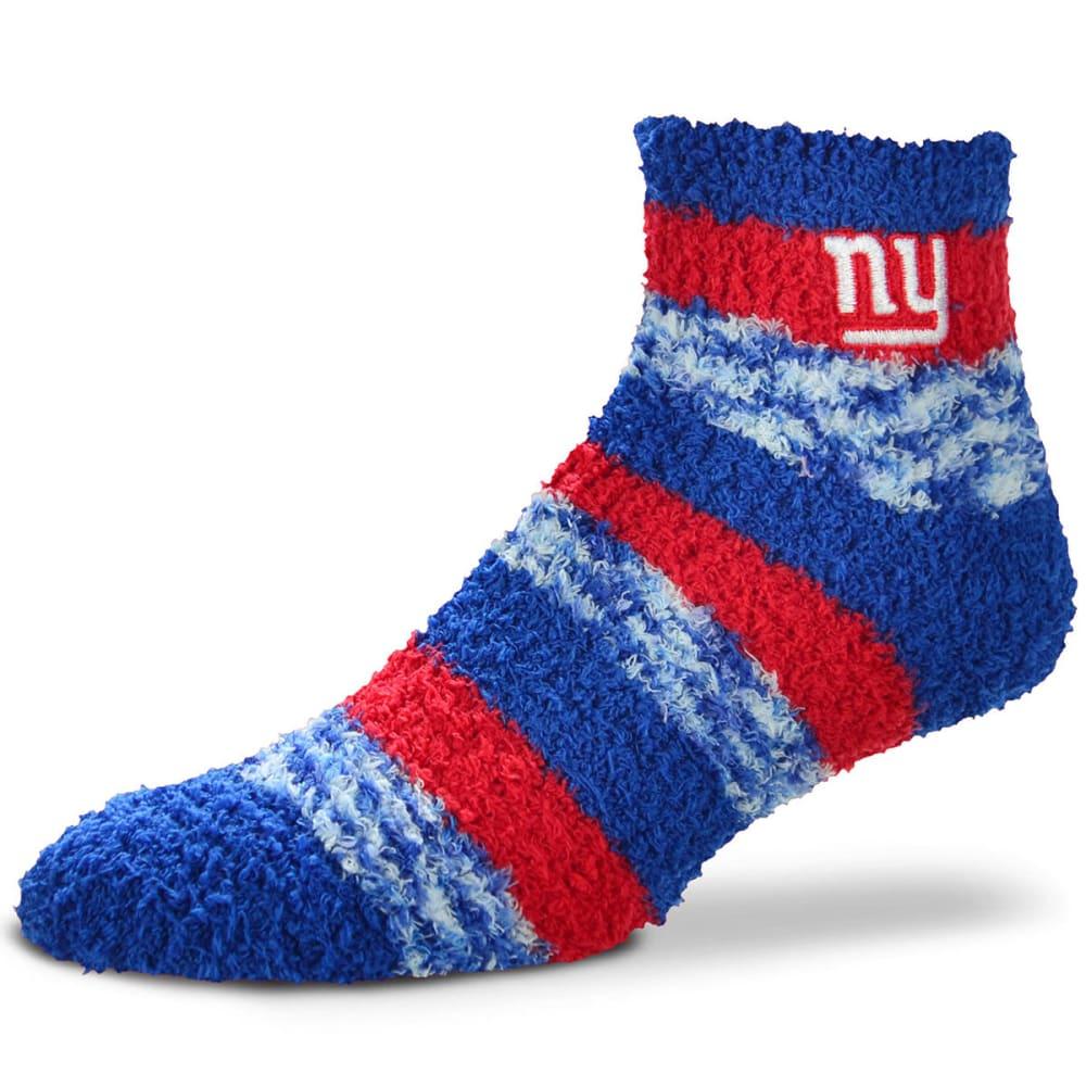 NEW YORK GIANTS Striped Fuzzy Sleep Socks - ROYAL BLUE