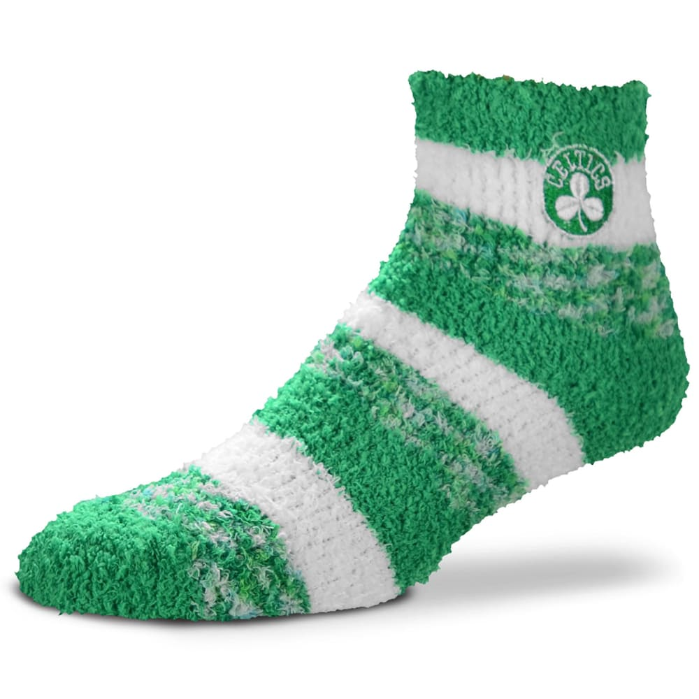 BOSTON CELTICS Women's Striped Soft Sleep Socks - GREEN