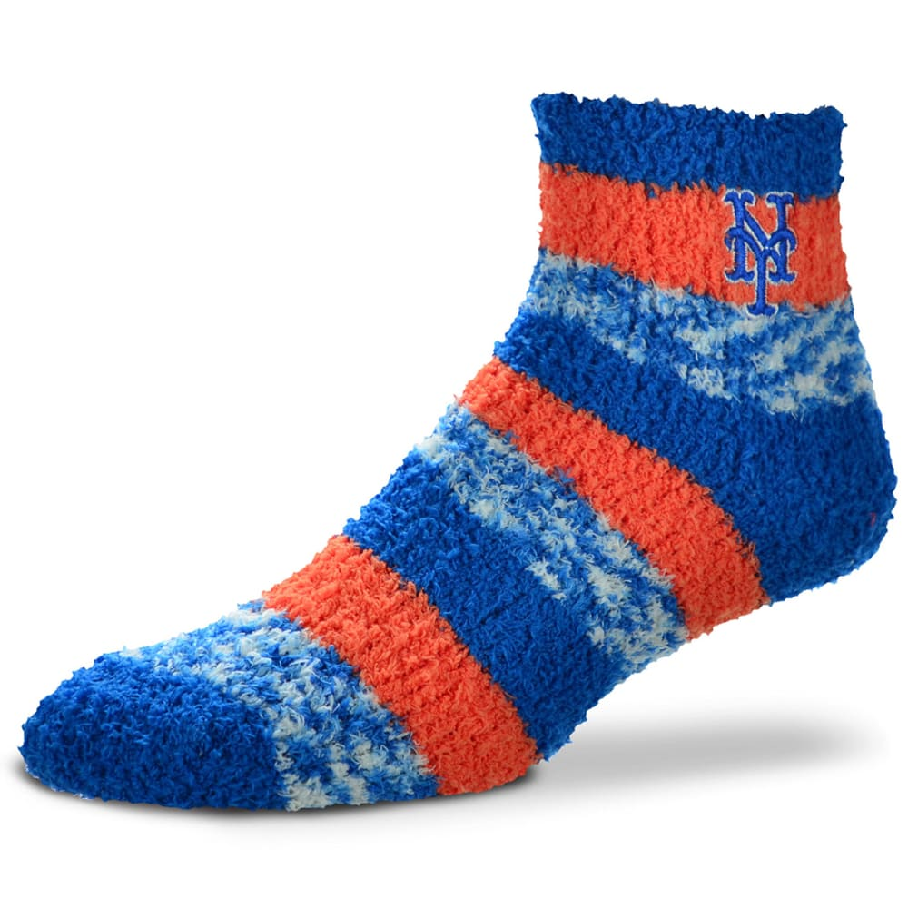 NEW YORK METS Women's Striped Soft Sleep Socks - ROYAL BLUE