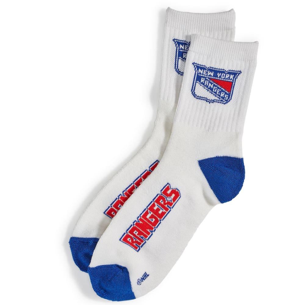 NEW YORK RANGERS Logo Name Socks - ROYAL BLUE