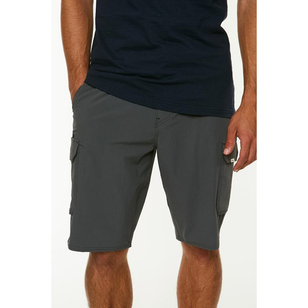 O'NEILL Guys' Traveler Cargo Hybrid Shorts - DCH-STEEL GREY