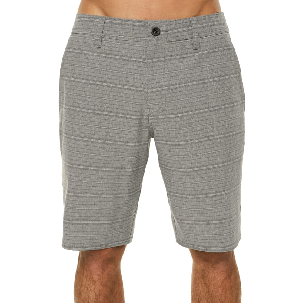 O'NEILL Guys' Locked Stripe Hybrid Shorts - GREY-GRY