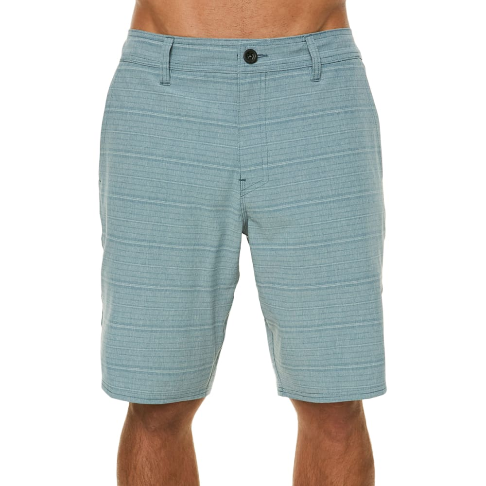 O'neill Guys' Locked Stripe Hybrid Shorts - Blue, 30