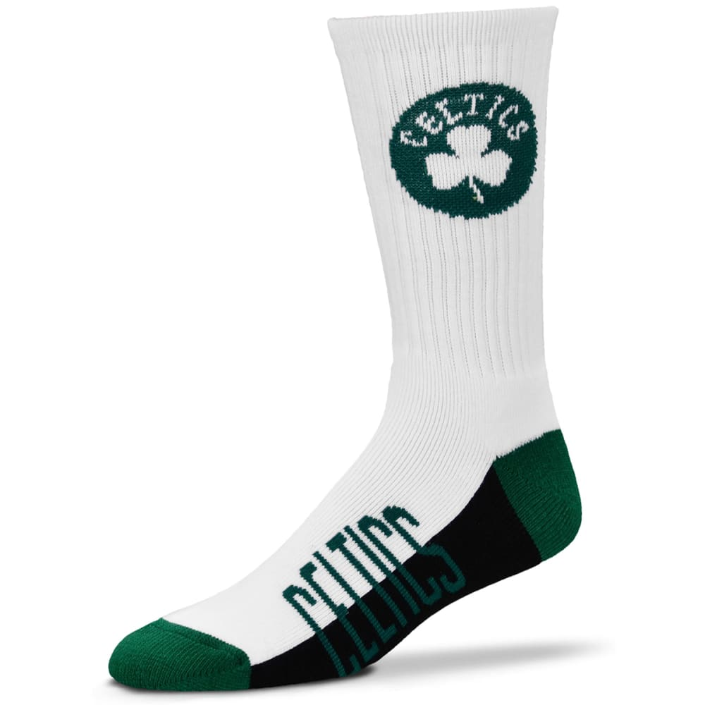 BOSTON CELTICS Men's Color Block Crew Socks - GREEN