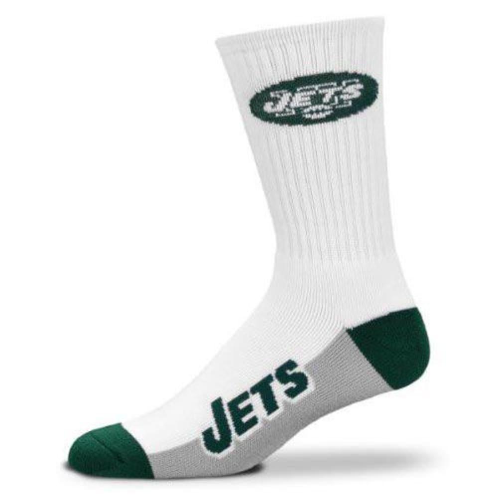 NEW YORK JETS Men's Color Block Crew Socks - GREEN