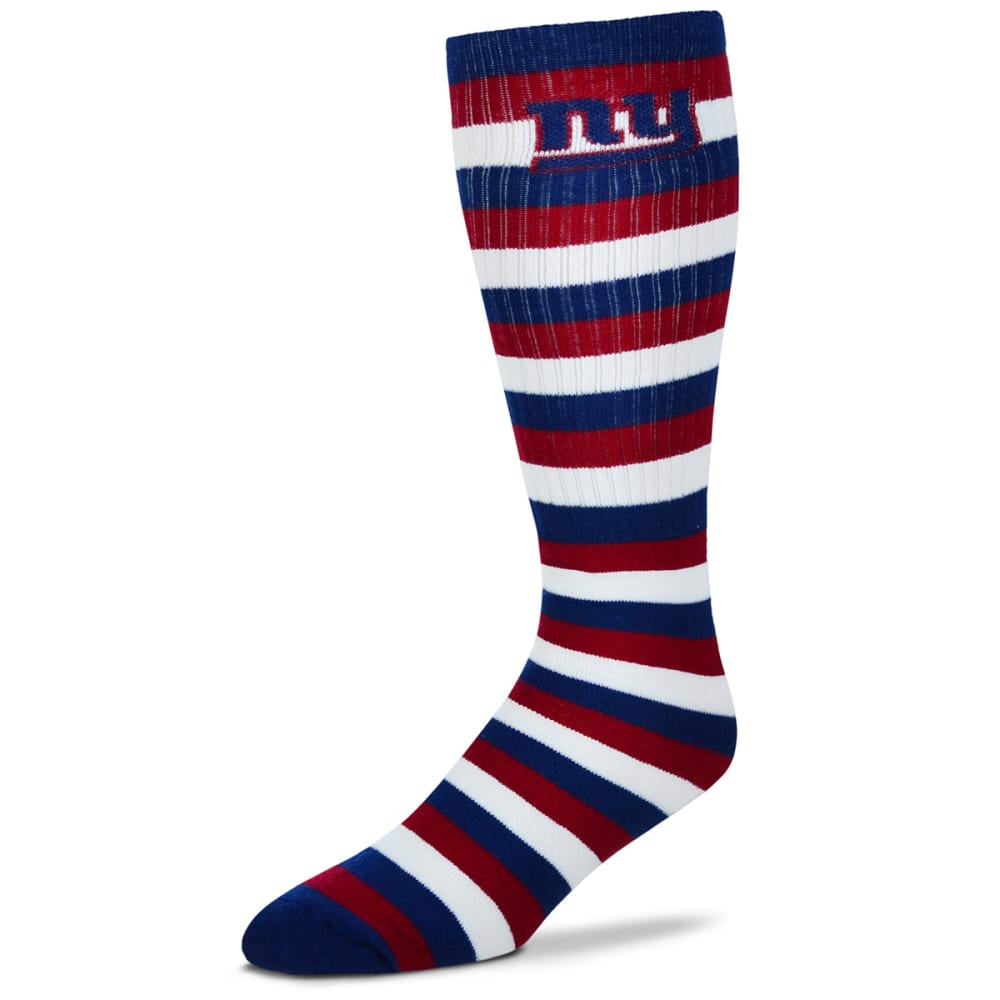 NEW YORK GIANTS Men's Striped Knee High Tube Socks - BLUE