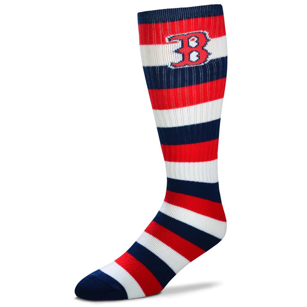 BOSTON RED SOX Striped Tall Socks - RED
