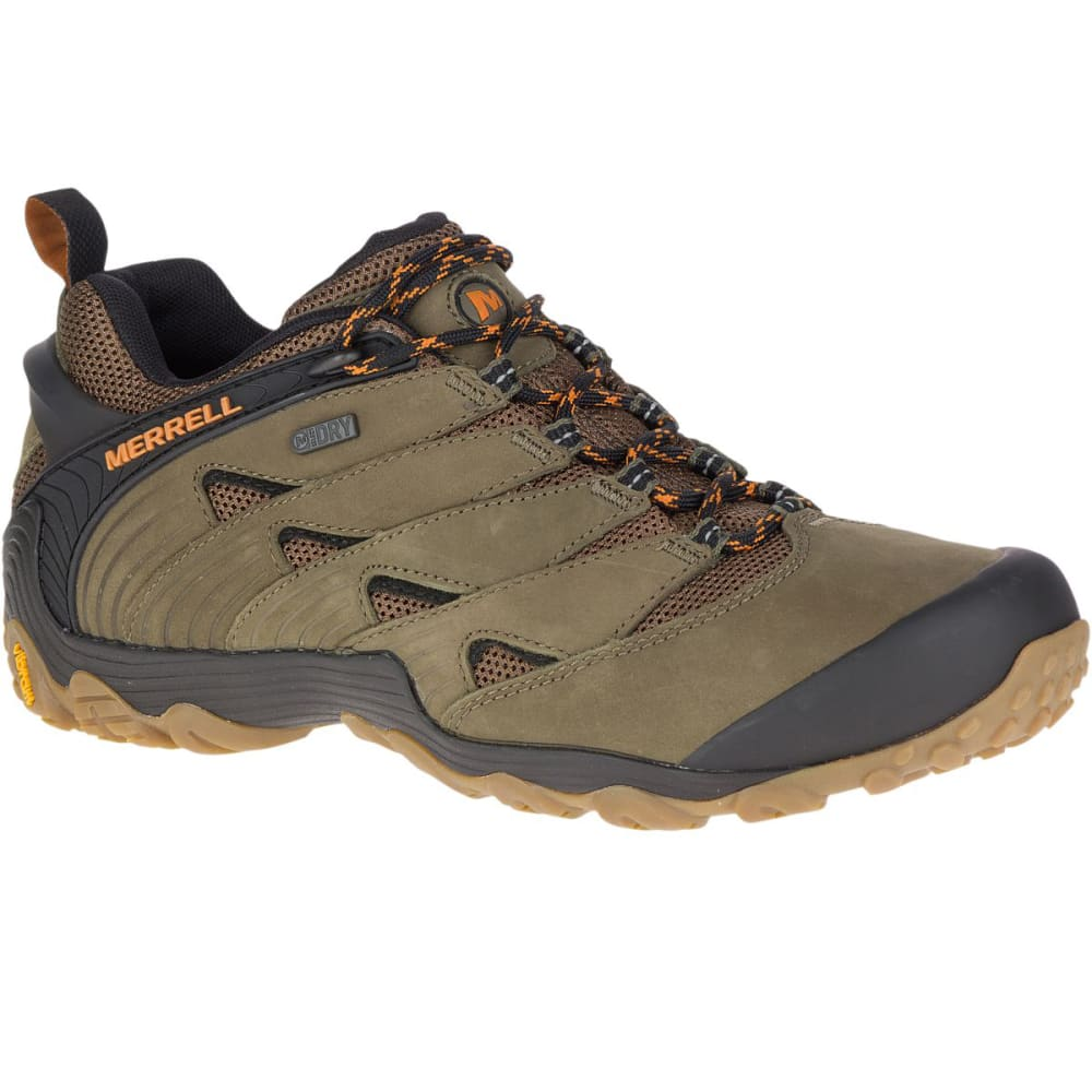 MERRELL Men's Chameleon 7 Low Waterproof Hiking Shoes - DUSTY OLIVE