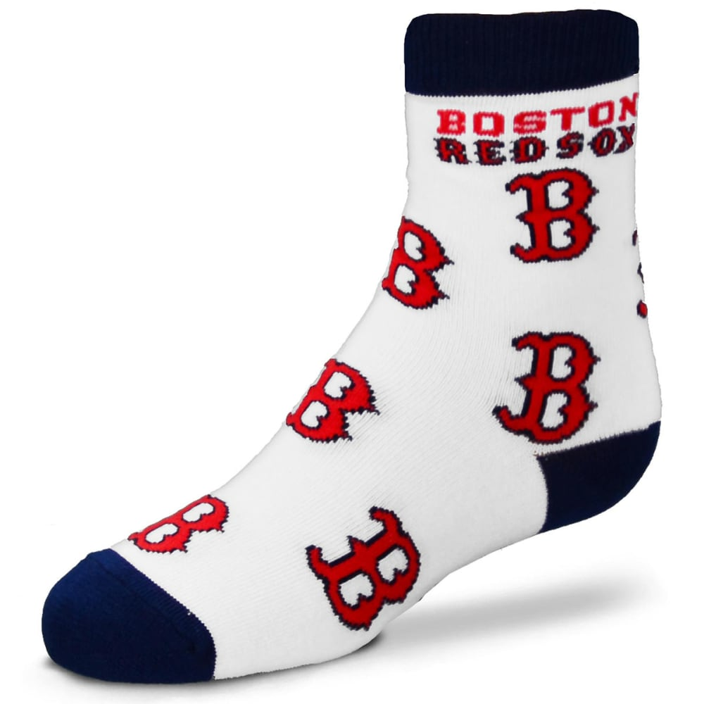 BOSTON RED SOX Youth All-Over Logo Socks - RED