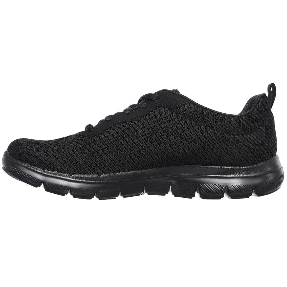 SKECHERS Women's Flex Appeal 2.0 – Newsmaker Sneakers, Black - BLACK/BLACK-BBK