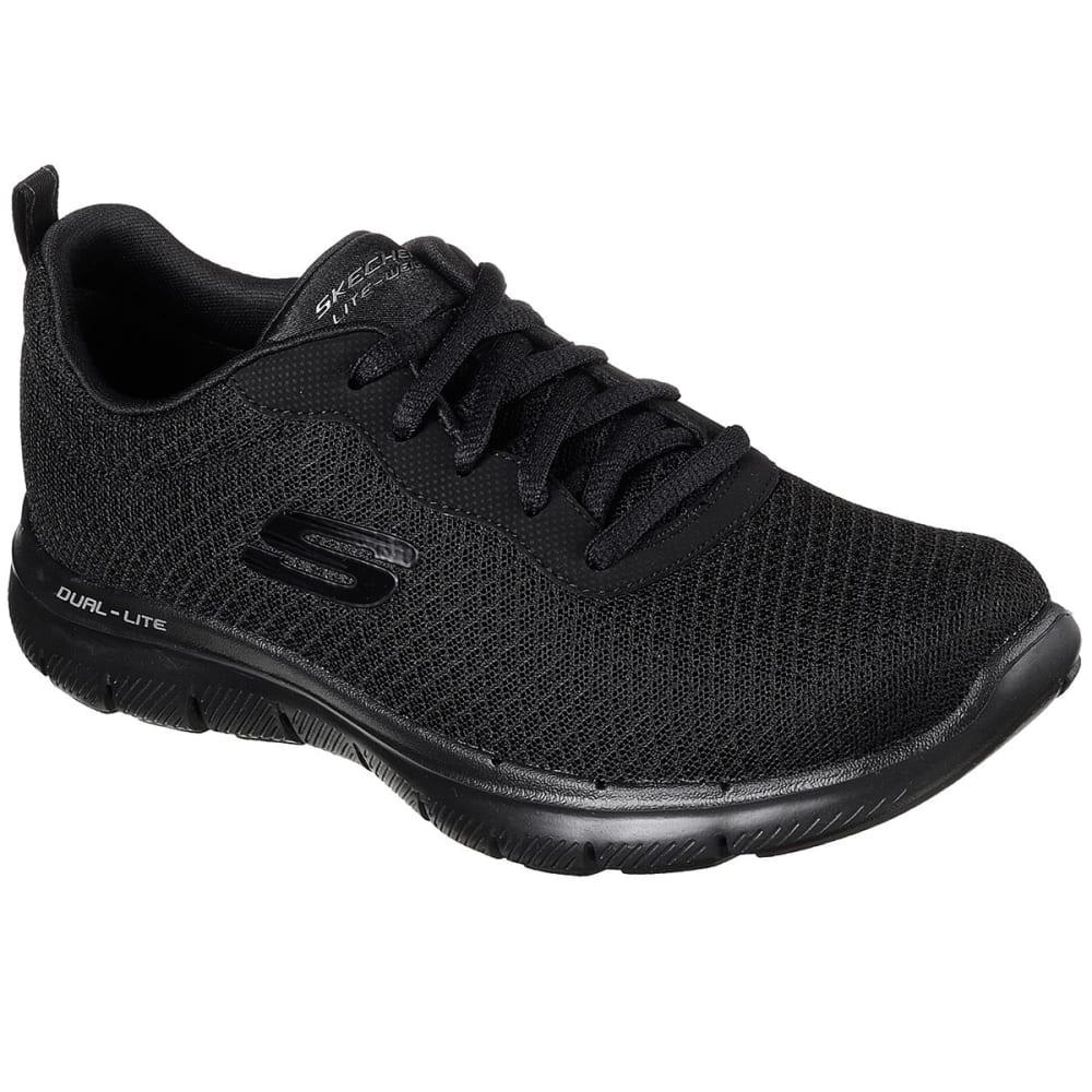 SKECHERS Women's Flex Appeal 2.0 - Newsmaker Sneakers - BLACK/BLACK-BBK
