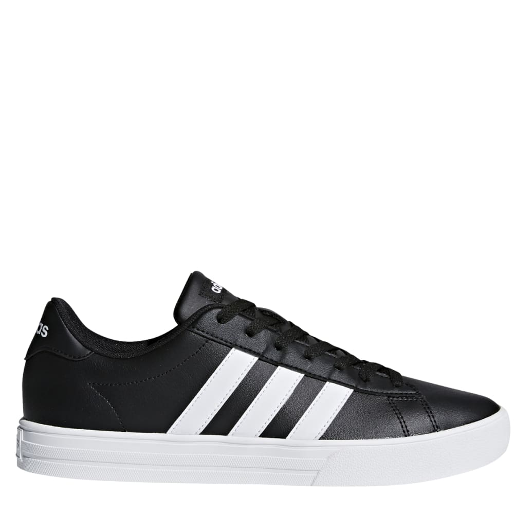 ADIDAS Men's Daily 2.0 Leather Skate Shoes - BLACK