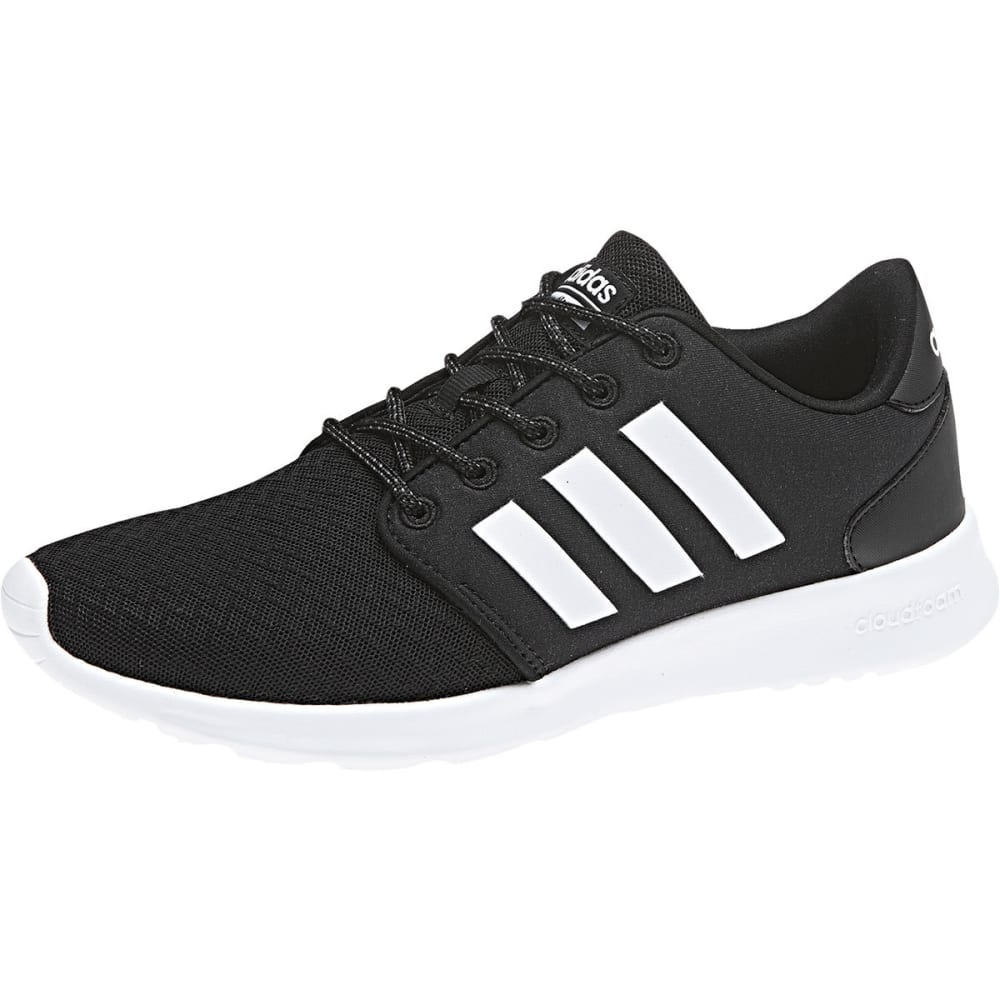 Adidas Women's Cloudfoam Qt Racer Running Shoes - Black, 6